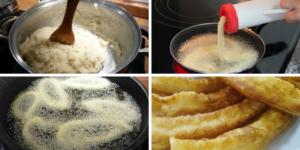 Preparacion de churros